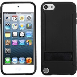 Insten Black Hard Snap-on Case Cover with Stand For Apple iPod Touch 5th/ 6th Gen