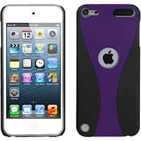 Insten Purple/ Black Wave Hard Snap-on Rubberized Matte Case Cover For Apple iPod Touch 5th/ 6th Gen
