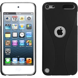 Insten Black Cup Shape Hard Snap-on Rubberized Matte Case Cover For Apple iPod Touch 5th/ 6th Gen