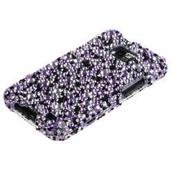 INSTEN Purple/ Silver Diamante Phone Case Cover for Samsung I777 Galaxy S II