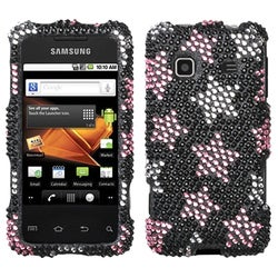 INSTEN Falling Stars Diamante Phone Case Cover for Samsung M820 Galaxy Prevail