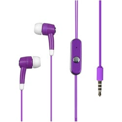 INSTEN Purple Light Stereo 3.5mm In-ear Handsfree Earphone