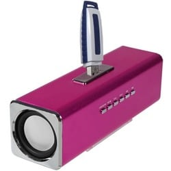 INSTEN Hot Pink Speaker for PC/ MP3 Player/ Cell Phone