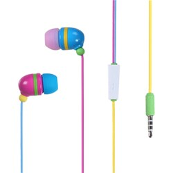 INSTEN Colorful Rainbow Light Stereo 3.5mm In-ear Handsfree Earphone