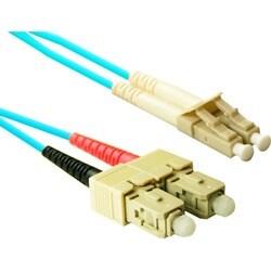 ENET SC to SC 2 meter OM3 10Gb 50/125 Aqua Duplex Multimode PVC Fiber