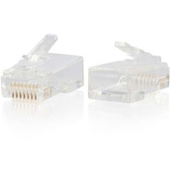 C2G RJ45 Cat6 Modular Plug for Round Solid/Stranded Cable - 10pk