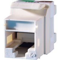 Ortronics Category 5e Keystone jack, Cloud White