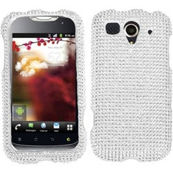 INSTEN Silver Diamante 2.0 Phone Case Cover for HUAWEI U8680 myTouch