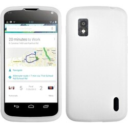INSTEN Solid White Phone Case Cover for LG E960 Nexus 4