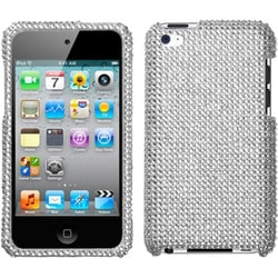 INSTEN Silver Diamante iPod Case Cover for Apple iPod Touch 4th Generation