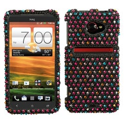 INSTEN Sprinkle Dots Diamante Phone Case Cover for HTC Evo 4G LTE