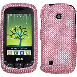 INSTEN Pink Diamante 2.0 Phone Case Cover for LG VN270 Cosmos Touch