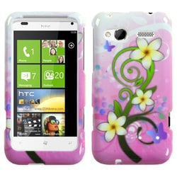 INSTEN Tropical Flowers Phone Case Cover for HTC Radar 4G