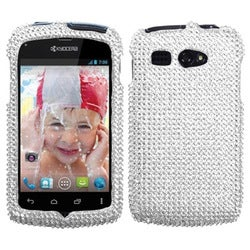 INSTEN Silver Diamante Phone Case Cover for Kyocera C5170 Hydro