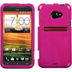 INSTEN Solid Hot Pink Phone Case Cover for HTC EVO 4G LTE