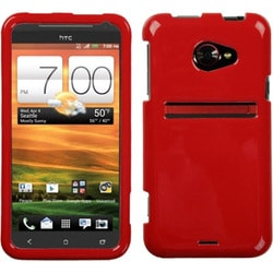 INSTEN Solid Flaming Red Phone Case Cover for HTC EVO 4G LTE