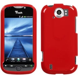 INSTEN Solid Flaming Red Phone Case Cover for HTC myTouch 4G Slide