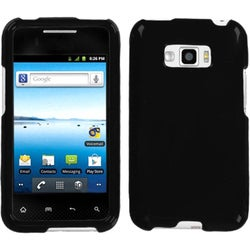 INSTEN Black Phone Case Cover for LG LS696 Optimus Elite/ VM696 Optimus Elite