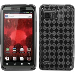 INSTEN Smoke Argyle Pane Candy Phone Case Cover for Motorola XT875 Droid Bionic