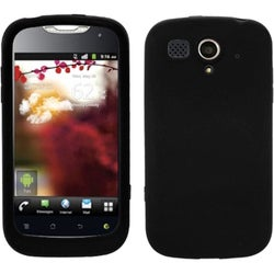 INSTEN Solid Black Skin Phone Case Cover for Huawei U8680 myTouch