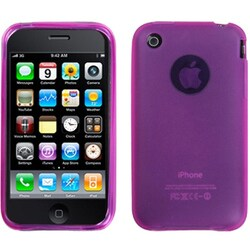 INSTEN Semi-transparent Hot Pink Skin Phone Case Cover for Apple iPhone 3GS/ 3G