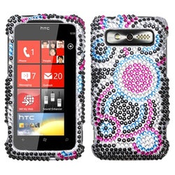 INSTEN Bubble Diamante Protector Phone Case Cover for HTC Trophy
