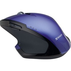 Verbatim Wireless Desktop 8-Button Deluxe Blue LED Mouse - Purple