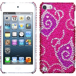 Insten Pink Butterfly Hard Snap-on Rhinestone Bling Case Cover For Apple iPod Touch 5th/ 6th Gen