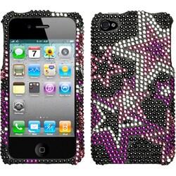 INSTEN Super Star Diamante Phone Case Cover for Apple iPhone 4/ 4S