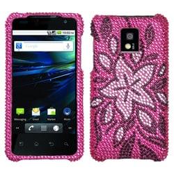 INSTEN Tasteful Flowers Diamante Phone Case Cover for LG P999 G2X