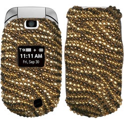 INSTEN Tiger Skin Camel/ Brown Diamante Phone Case Cover for LG VN150 Revere