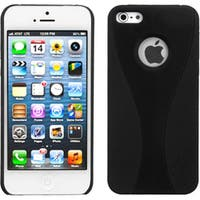 INSTEN Black Wave Back Protector Phone Case for Apple iPhone 5/ 5S/ 5C/ SE