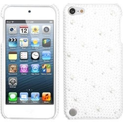 Insten White Hard Snap-on Diamond Bling Case Cover For Apple iPod Touch 5th/ 6th Gen
