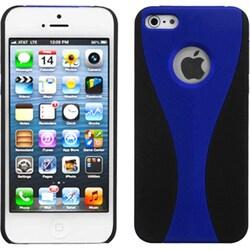INSTEN Blue/ Black Wave Phone Back Protector Phone Case for Apple iPhone 5/ 5S/ 5C/ SE