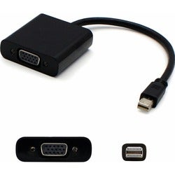AddOn 5-Pack of 8in Mini-DisplayPort 1.1 to VGA Male to Female Black