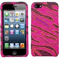 INSTEN Rocker Diamante Protector Phone Case Cover for Apple iPhone 5/ 5S/ SE