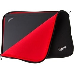"Lenovo Carrying Case (Sleeve) for 12"" Notebook - Black, Red"