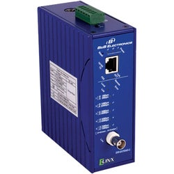 B&B Ethernet Coaxial Extender, 10/100, DIN Rail