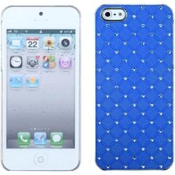 INSTEN Dark Blue Luxurious Lattice Dazzling Phone Case Cover for Apple iPhone 5 / 5S / SE