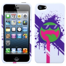 INSTEN Hipster Tripster/ All Smiles Phone Case Cover for Apple iPhone 5 / 5S / SE
