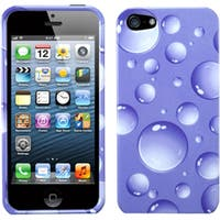 INSTEN Purple/ Bigger Bubbles Phone Case Covr for Apple iPhone 5 / 5S / SE