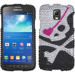 INSTEN Skull Diamante Phone Case Cover for Samsung i537 Galaxy S4 Active