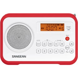 Sangean PR-D18 Desktop Clock Radio - 1 W RMS - Mono