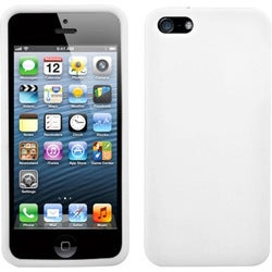 INSTEN White Solid Skin Phone Case for Apple iPhone 5/ 5S/ SE