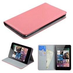 INSTEN Pink Premium Wallet for Google Nexus 7