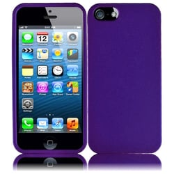 INSTEN Purple Rubberized Hard Plastic PC Snap-on Phone Case Cover for Apple iPhone 5/ 5S/ SE
