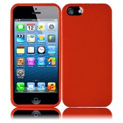 INSTEN Orange Rubberized Hard Plastic PC Snap-on Phone Case Cover for Apple iPhone 5/ 5S/ SE