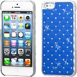 INSTEN Dark Blue/ Silver/ Dazzling/ Diamond Phone Case for Apple iPhone 5/ 5S/ SE