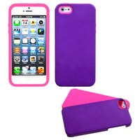 INSTEN Grape/ Electric Pink Fusion Phone Case for Apple iPhone 5/ 5S/ SE