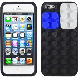 INSTEN Black/ Blocks Skin Phone Case for Apple iPhone 5/ 5S/ SE